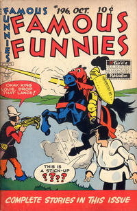 Cover Thumbnail for Famous Funnies (Eastern Color, 1934 series) #196