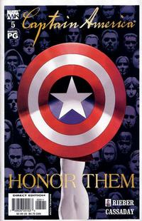 Cover Thumbnail for Captain America (Marvel, 2002 series) #5 [Direct Edition]