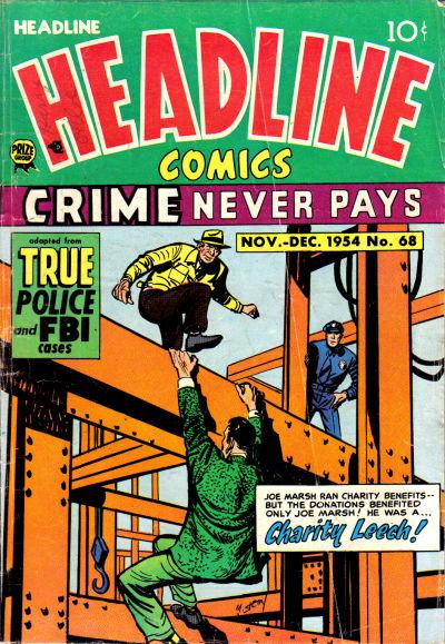Cover for Headline Comics (Prize, 1943 series) #v10#2 (68)