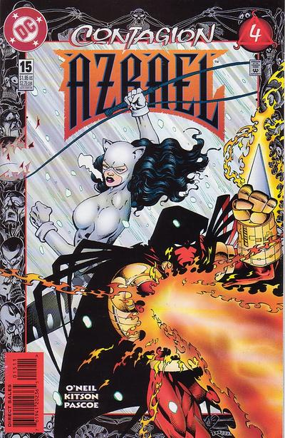 Cover for Azrael (DC, 1995 series) #15 [Newsstand]