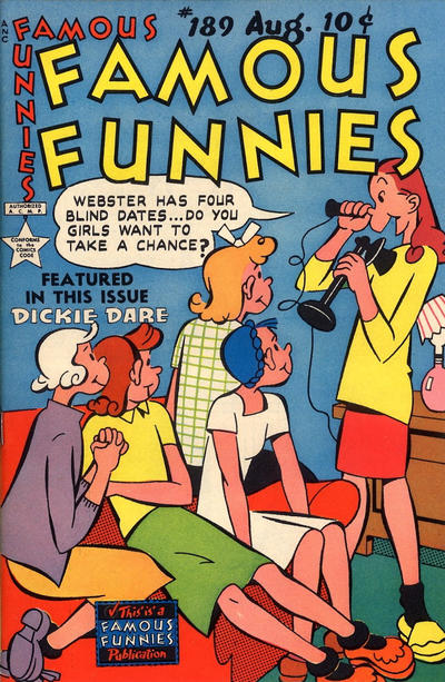 Cover for Famous Funnies (Eastern Color, 1934 series) #189