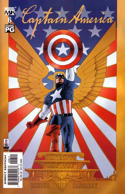 Cover for Captain America (Marvel, 2002 series) #6 [Direct Edition]