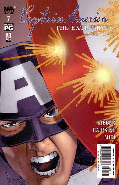 Cover for Captain America (Marvel, 2002 series) #7 [Direct Edition]