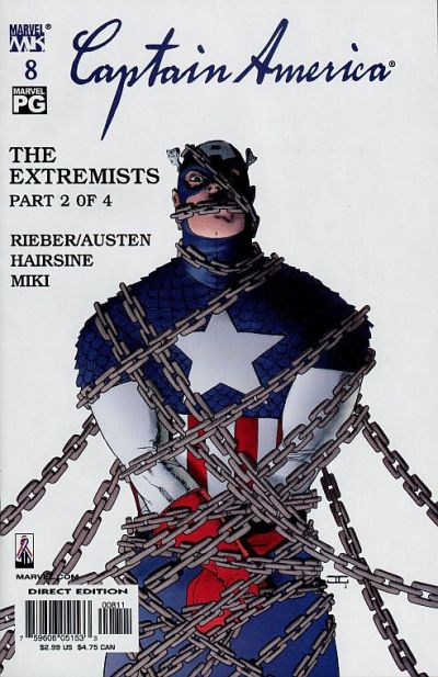 Cover for Captain America (Marvel, 2002 series) #8 [Direct Edition]