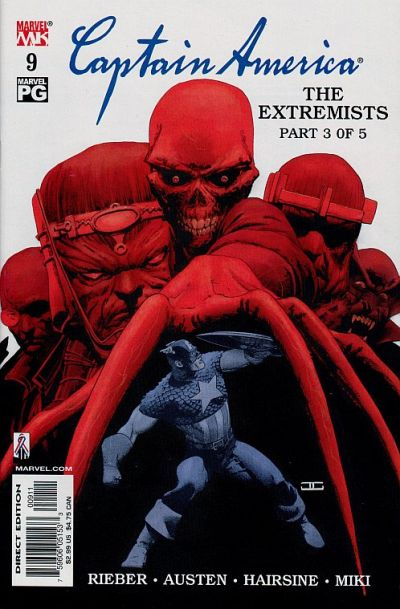 Cover for Captain America (Marvel, 2002 series) #9 [Direct Edition]