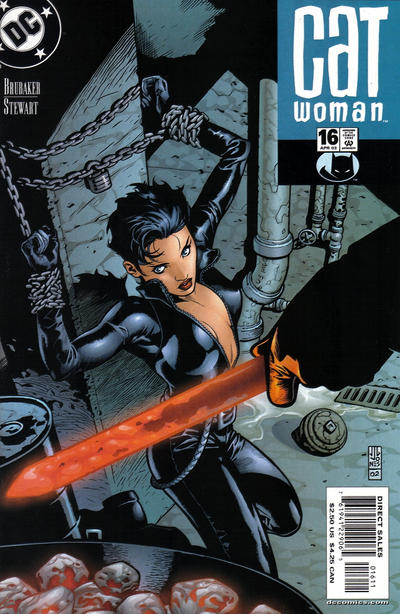 Cover for Catwoman (DC, 2002 series) #16 [Newsstand]