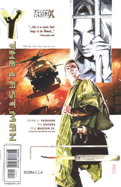 Cover for Y: The Last Man (DC, 2002 series) #10
