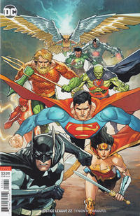 Cover Thumbnail for Justice League (DC, 2018 series) #22 [Leinil Yu Variant Cover]