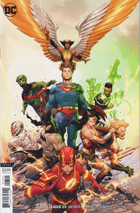 Cover Thumbnail for Justice League (DC, 2018 series) #23 [Jerome Opeña Variant Cover]