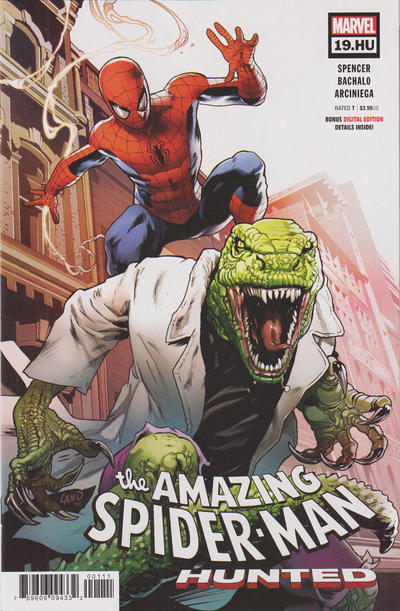 Cover for Amazing Spider-Man (Marvel, 2018 series) #19.HU [Regular Edition - Greg Land Cover]