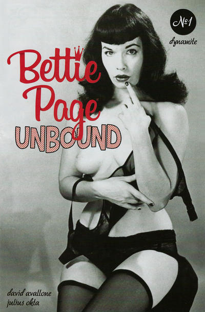 Cover for Bettie Page Unbound (Dynamite Entertainment, 2019 series) #1 [Black Bag Photo Cover]