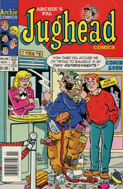 Cover for Archie's Pal Jughead Comics (Archie, 1993 series) #86 [Newsstand]