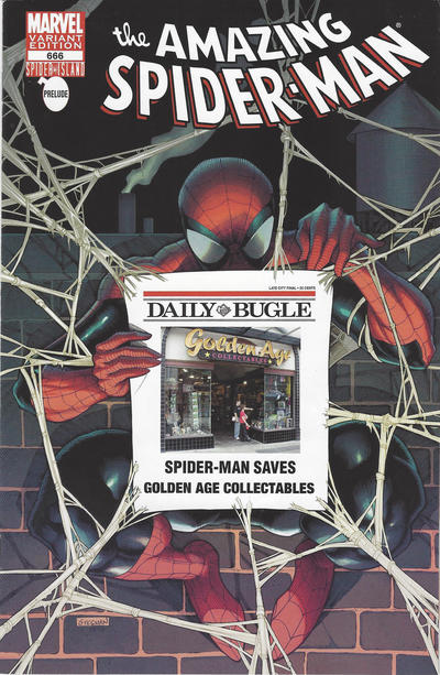 Cover for The Amazing Spider-Man (Marvel, 1999 series) #666 [The Laughing Ogre Exclusive Bugle Variant Cover]