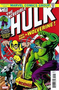 Cover Thumbnail for Incredible Hulk No. 181 Facsimile Edition (Marvel, 2019 series)
