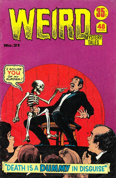 Cover for Weird Mystery Tales (K. G. Murray, 1972 series) #21