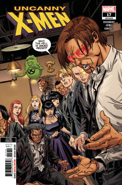 Cover for Uncanny X-Men (Marvel, 2019 series) #17 (639) [Second Printing - Carlos Gómez]