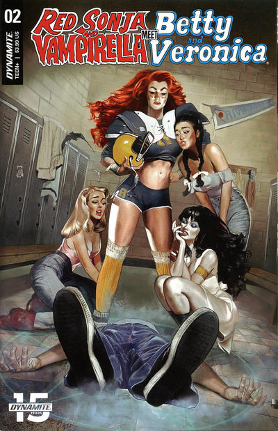 Cover for Red Sonja and Vampirella Meet Betty and Veronica (Dynamite Entertainment, 2019 series) #2 [Cover D Dan Parent]