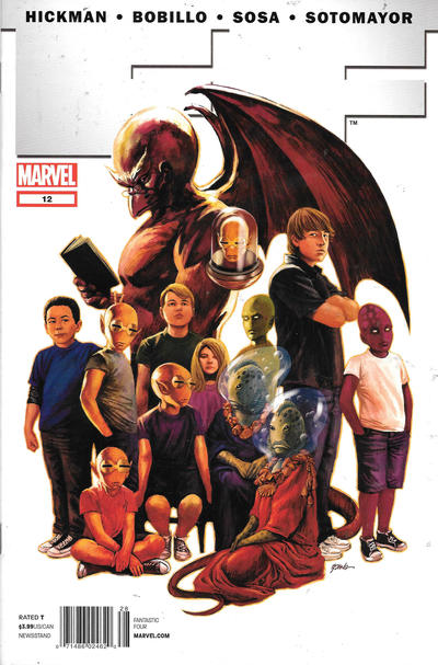 Cover for FF (Marvel, 2011 series) #12 [Fantastic Four 50th Anniversary Variant]