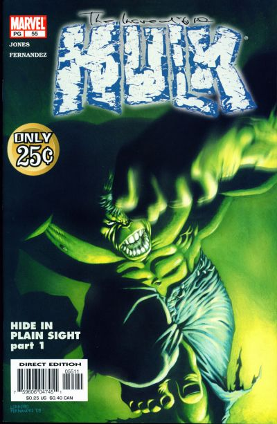 Cover for Incredible Hulk (Marvel, 2000 series) #55