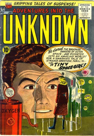 Cover for Adventures into the Unknown (American Comics Group, 1948 series) #63