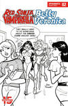 Cover Thumbnail for Red Sonja and Vampirella Meet Betty and Veronica (2019 series) #2 [Cover F Black and White Dan Parent]
