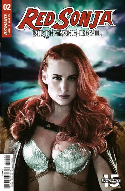 Cover for Red Sonja: Birth of the She-Devil (Dynamite Entertainment, 2019 series) #2 [Cover C Cosplay]