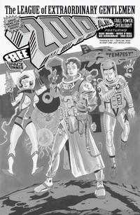 Cover Thumbnail for The League of Extraordinary Gentlemen: The Tempest (Top Shelf Productions / Knockabout Comics, 2018 series) #6 [Cover RI - Kevin O'Neill Black and White]