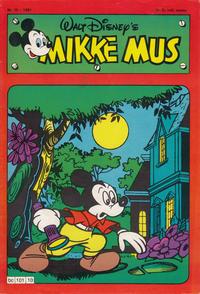 Cover Thumbnail for Mikke Mus (Hjemmet / Egmont, 1980 series) #10/1981