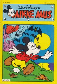 Cover Thumbnail for Mikke Mus (Hjemmet / Egmont, 1980 series) #11/1981