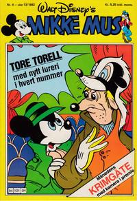 Cover Thumbnail for Mikke Mus (Hjemmet / Egmont, 1980 series) #4/1982