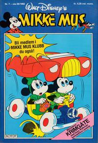 Cover Thumbnail for Mikke Mus (Hjemmet / Egmont, 1980 series) #7/1982
