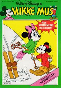 Cover Thumbnail for Mikke Mus (Hjemmet / Egmont, 1980 series) #2/1983