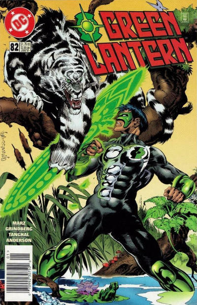 Cover for Green Lantern (DC, 1990 series) #82 [Newsstand]