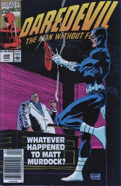 Cover for Daredevil (Marvel, 1964 series) #288 [Direct]