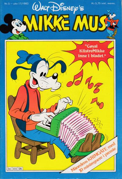 Cover for Mikke Mus (Hjemmet / Egmont, 1980 series) #5/1983