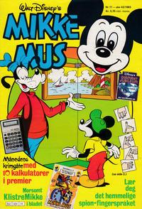 Cover Thumbnail for Mikke Mus (Hjemmet / Egmont, 1980 series) #11/1983