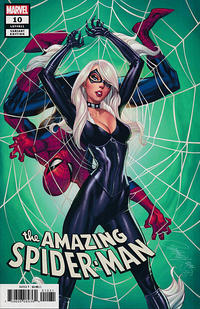 Cover Thumbnail for Amazing Spider-Man (Marvel, 2018 series) #10 (811) [Variant Edition - Black Cat - J. Scott Campbell Cover]
