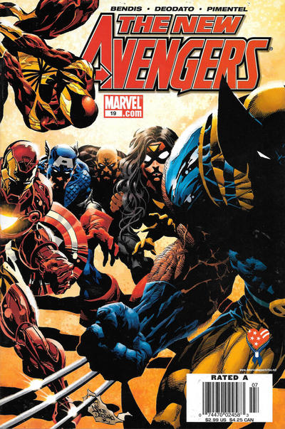 Cover for New Avengers (Marvel, 2005 series) #19 [Newsstand]