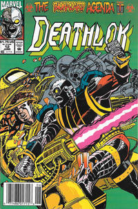 Cover for Deathlok (Marvel, 1991 series) #12 [Direct]
