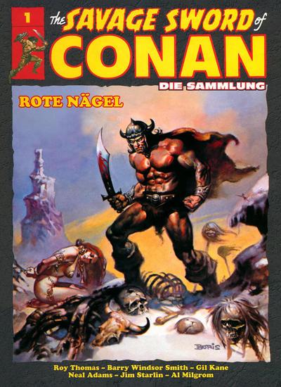 Cover for The Savage Sword of Conan - Die Sammlung (Hachette [DE], 2017 series) #1 - Rote Nägel