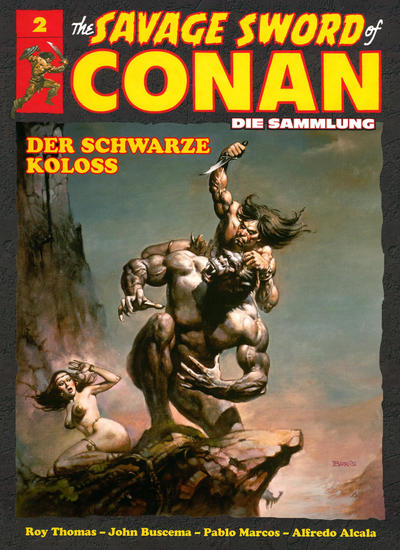 Cover for The Savage Sword of Conan - Die Sammlung (Hachette [DE], 2017 series) #2 - Der schwarze Koloss