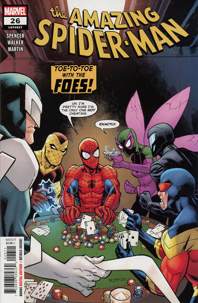 Cover for Amazing Spider-Man (Marvel, 2018 series) #26 (827) [Variant Edition - Ron Garney Cover]