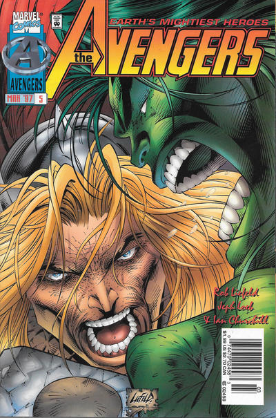 Cover for Avengers (Marvel, 1996 series) #5 [Cover B]