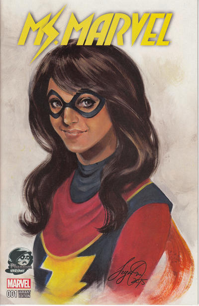 Cover for Ms. Marvel (Marvel, 2016 series) #1 [Fried Pie Exclusive Joyce Chin Variant]