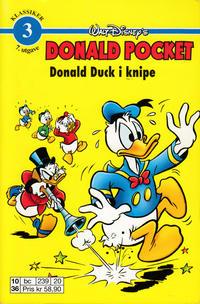 Cover Thumbnail for Donald Pocket (Hjemmet / Egmont, 1968 series) #3 - Donald Duck i knipe [6. opplag bc 239 20]