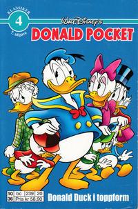 Cover Thumbnail for Donald Pocket (Hjemmet / Egmont, 1968 series) #4 - Donald Duck i toppform [6. opplag bc 239 20]