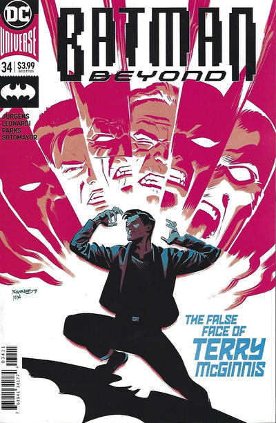 Cover for Batman Beyond (DC, 2016 series) #34 [Chris Samnee & Matthew Wilson]