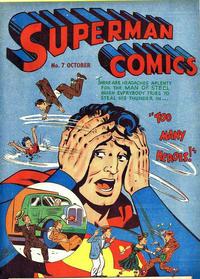 Cover Thumbnail for Superman (K. G. Murray, 1950 series) #7
