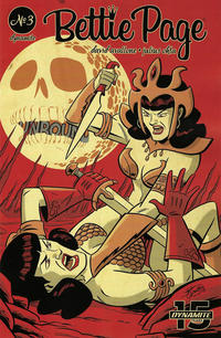 Cover Thumbnail for Bettie Page Unbound (Dynamite Entertainment, 2019 series) #3 [Cover B Scott Chantler]