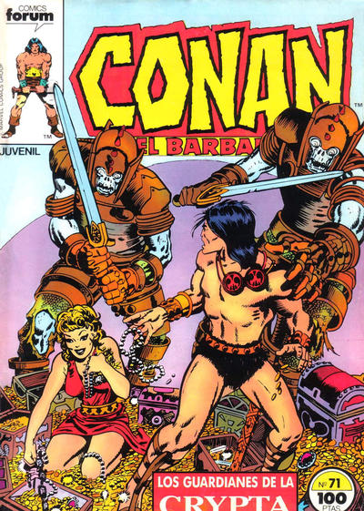 Cover for Conan el Bárbaro (Planeta DeAgostini, 1983 series) #71